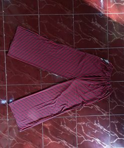 Celana Kulot Panjang Bahan Jersey Salur